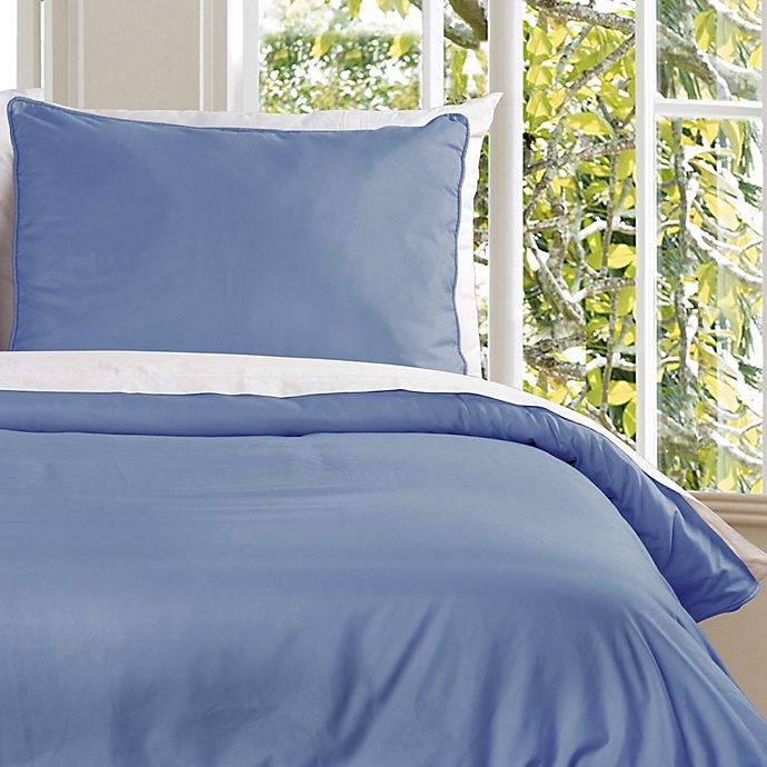 Alternate image 1 for Clean Living Water Resistant Twin Duvet Cover Set in Smoke Blue