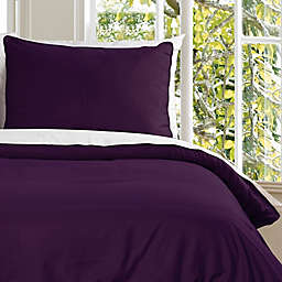 Clean Living Water Resistant Twin Duvet Cover Set in Fig