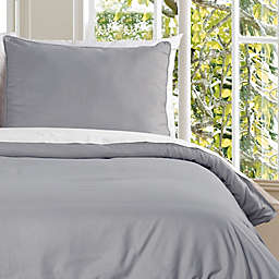 Clean Living Water Resistant Twin Duvet Cover Set in Silver