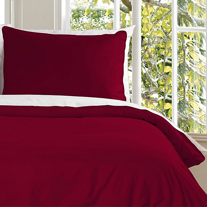 Alternate image 1 for Clean Living Water Resistant Twin Duvet Cover Set in Red