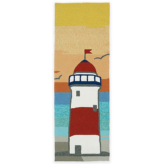 Alternate image 1 for Kaleen Sea Isle Lighthouse 2-Foot x 6-Foot Indoor/Outdoor Runner