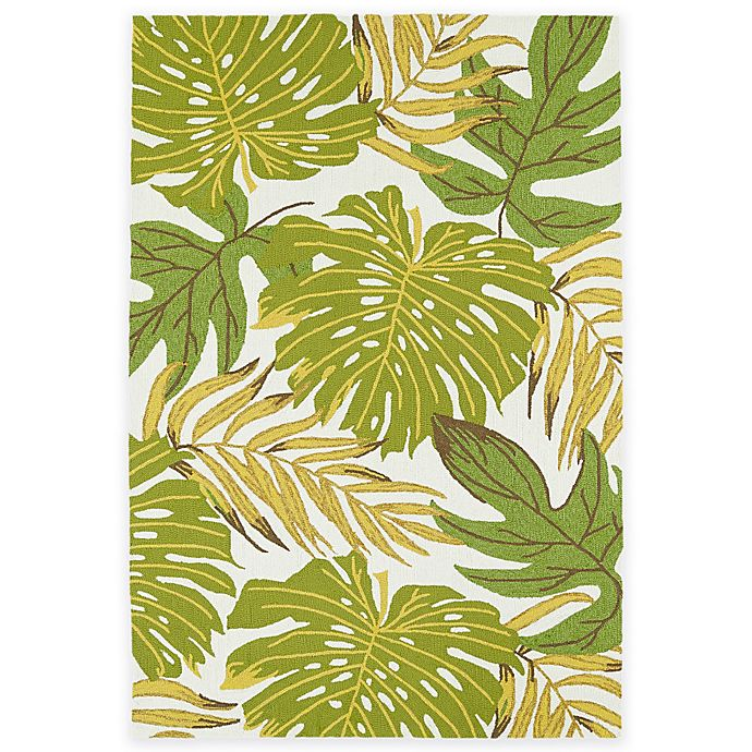 Alternate image 1 for Kaleen Sea Isle Palms 5-Foot x 7-Foot 6-Inch Indoor/Outdoor Area Rug in Green