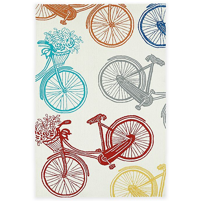 Alternate image 1 for Kaleen Sea Isle Bicycle 2-Foot x 3-Foot Multicolor Indoor/Outdoor Accent Rug