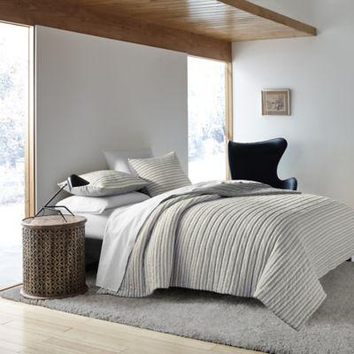Ed Ellen Degeneres Horizon Quilt In Grey Bed Bath And
