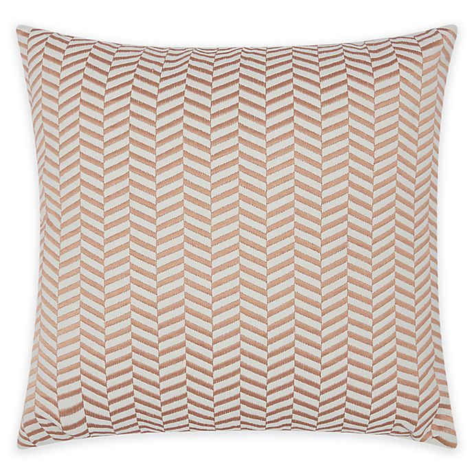Alternate image 1 for Mina Victory Luminescence Chevron Square Throw Pillow in Rose Gold
