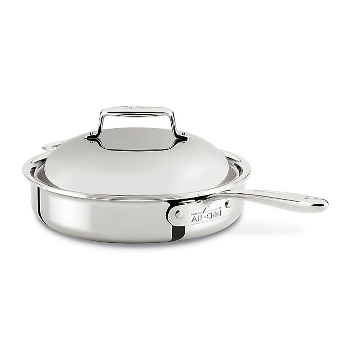 Alternate image 1 for All-Clad d7 Stainless Steel 3 qt. Covered Pan Roaster with Helper Handle