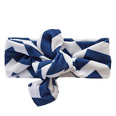 Itzy Ritzy® City Chevron Stripe Top Knot Headband in Navy