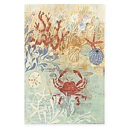 Marmont Hill 40-Inch x 60-Inch Coastal Floral Frenzy IV Canvas Wall Art