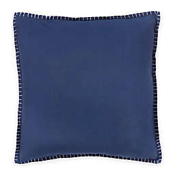 Bed Inc. Isabelle Square Throw Pillow in Blue