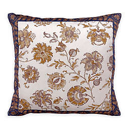 Bed Inc. Isabelle Floral Square Throw Pillow in Blue/White