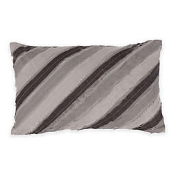 Bed Inc. Kingston Oblong Throw Pillow in Grey/Black
