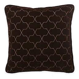 Bed Inc. Jade Velvet Square Throw Pillow in Brown