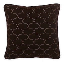 Bed Inc. Jade Velvet Square Throw Pillow in Brown