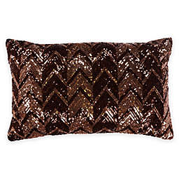 Bed Inc. Jade Sequin Boudoir Throw Pillow in Brown