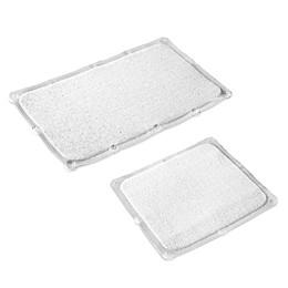 Bath Carpet Ultra Bath Mat with Anti-Slip Backing in Clear
