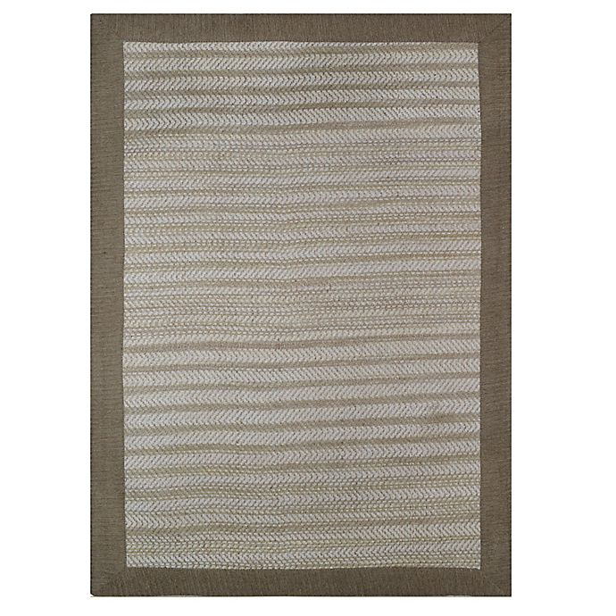 Alternate image 1 for Natural Border 2-Foot 3-Inch x 3-Foot 9-Inch Accent Rug in Limestone