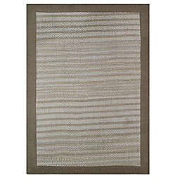 Natural Border 2-Foot 3-Inch x 3-Foot 9-Inch Accent Rug in Limestone