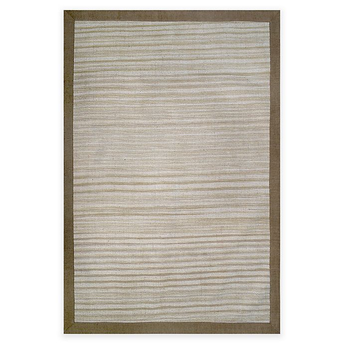 Alternate image 1 for Natural Border Rug in Limestone