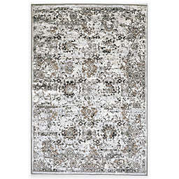 W Home 3'3 x 4'7 Accent Rug in Grey/Ivory