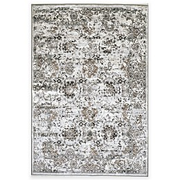 W Home Viscose Area Rug in Distressed Grey/Ivory