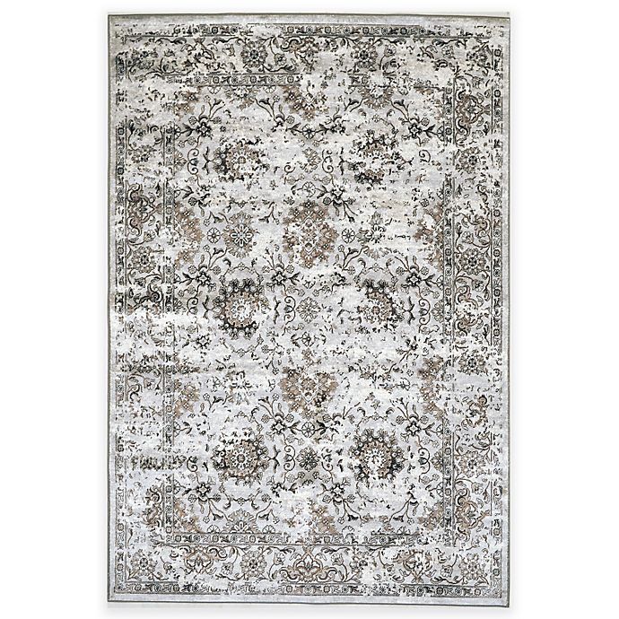 Alternate image 1 for Verona Patina Viscose Area Rug in Distressed Grey/Ivory