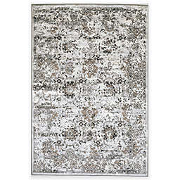 Verona Patina Viscose Area Rug in Distressed Grey/Ivory