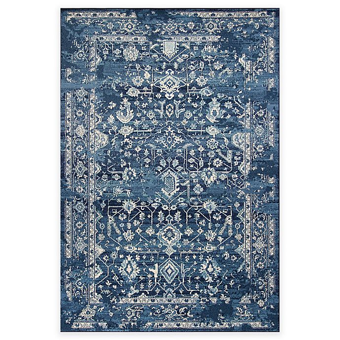 Alternate image 1 for KAS Azure Blue Marrakesh Area Rug