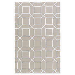 Surya Kingston Peak 5-Foot x 8-Foot Indoor/Outdoor Area Rug in Light Grey