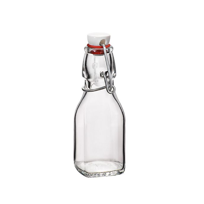 Alternate image 1 for Bormioli Rocco 4.25 oz. Glass Swing Bottle with Hermetically Sealed Lid
