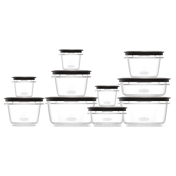 Alternate image 1 for Rubbermaid® Premier 20-Piece Set Food Storage Set in Grey