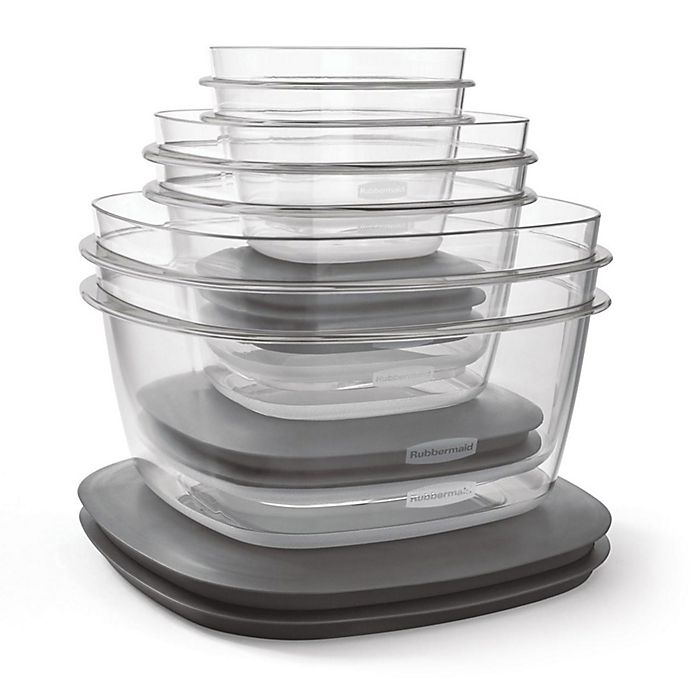 Alternate image 1 for Rubbermaid® Premier 12-Piece Food Storage Set in Grey