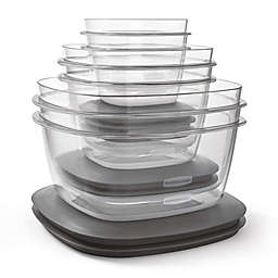 Rubbermaid® Premier 12-Piece Food Storage Set in Grey