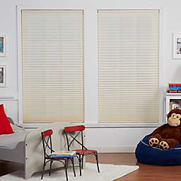 Baby Blinds Cordless Pleat Shade in Soft Tan