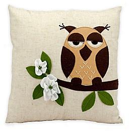 Mina Victory 1 Owl Square Throw Pillow