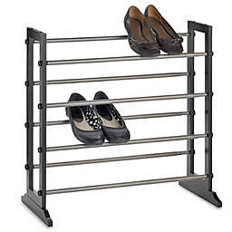 4-Tier Expandable Shoe Rack in Mahogany