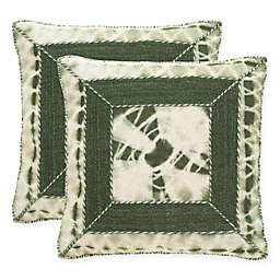 Safavieh Dip-Dye Patch 20-Inch Square Throw Pillows in Cilantro (Set of 2)