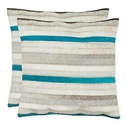 Safavieh Quinn 22-Inch Square Throw Pillows (Set of 2)