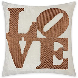 "Mina Victory ""LOVE"" Square Throw Pillow"