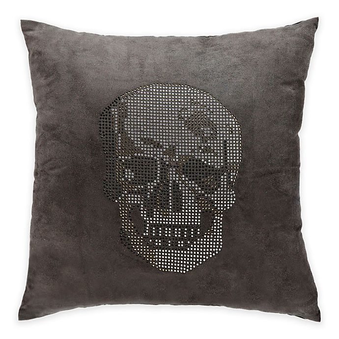 Mina Victory Luminescence Rhinestone Skull Square Throw Pillow Collection Bed Bath And Beyond Canada