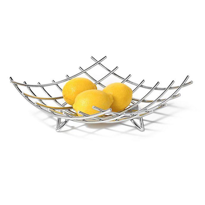 Alternate image 1 for Spectrum™ Dunbar™ Grid Fruit Bowl in Chrome