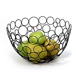 Spectrum Circle Shapes™ Black Fruit Bowl