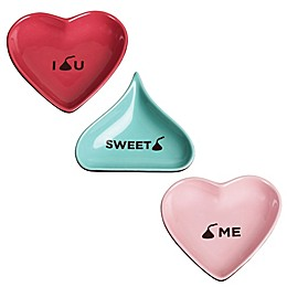 Hershey's by Fitz and Floyd® Sweet Notes Heart and KISS-Shape Tidbit Dish Collection