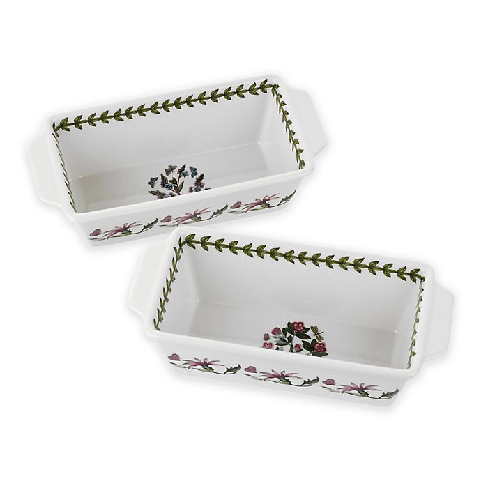 Alternate image 1 for Portmeirion® Botanic Garden Rectangular Baking Dish (Set of 2)