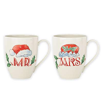 "Lenox® Holiday® ""Mr."" and ""Mrs."" Mugs (Set of 2)"