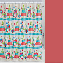 Holiday Owls Shower Curtain