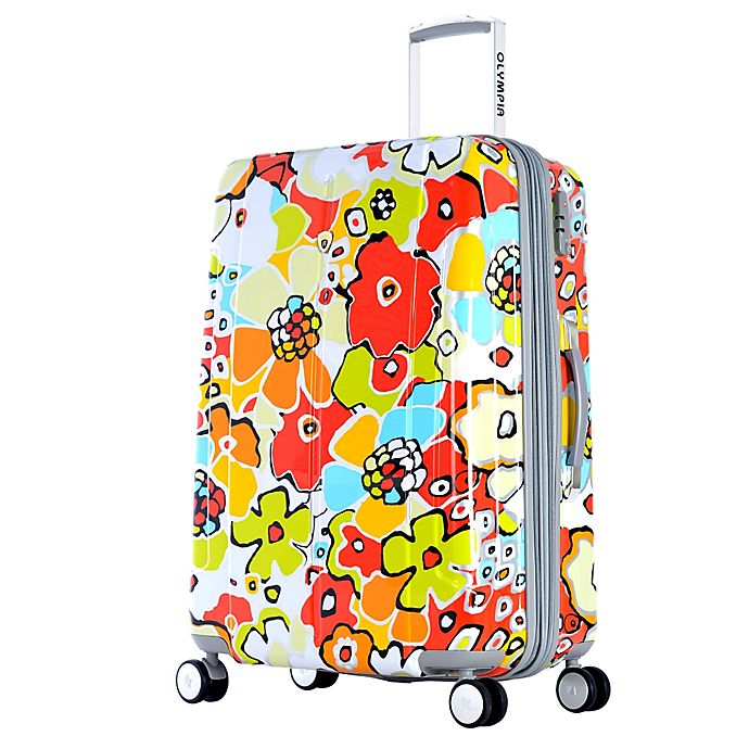 Alternate image 1 for Olympia® USA Blossom II 29-Inch Hardcase Spinner Suitcase in Aqua