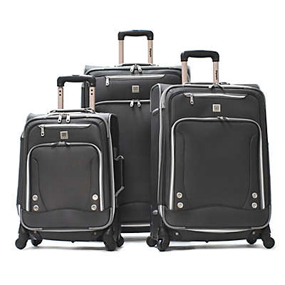 Olympia® USA Skyhawks Spinner Luggage Collection in Black