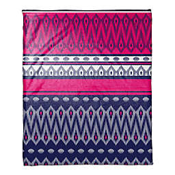 Tribal Boho Throw Blanket in Pink/Purple