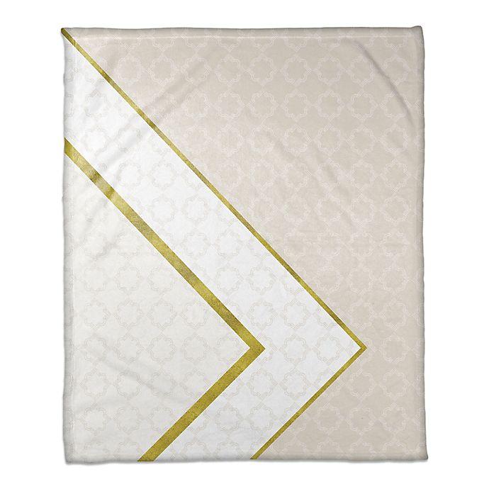 Alternate image 1 for Inverse Pattern Throw Blanket in White/Cream