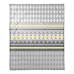 Diamonds Throw Blanket in Yellow/Grey